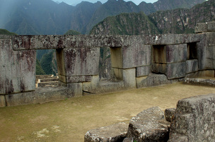 Window Temple Machu Picchu