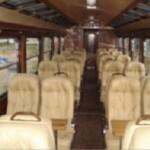 Inca rail train, inside executive coach