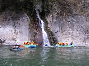 River rafting in Peru