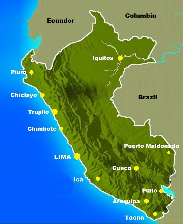 Peru Map Major Cities The Only Peru Guide - Cities map of peru