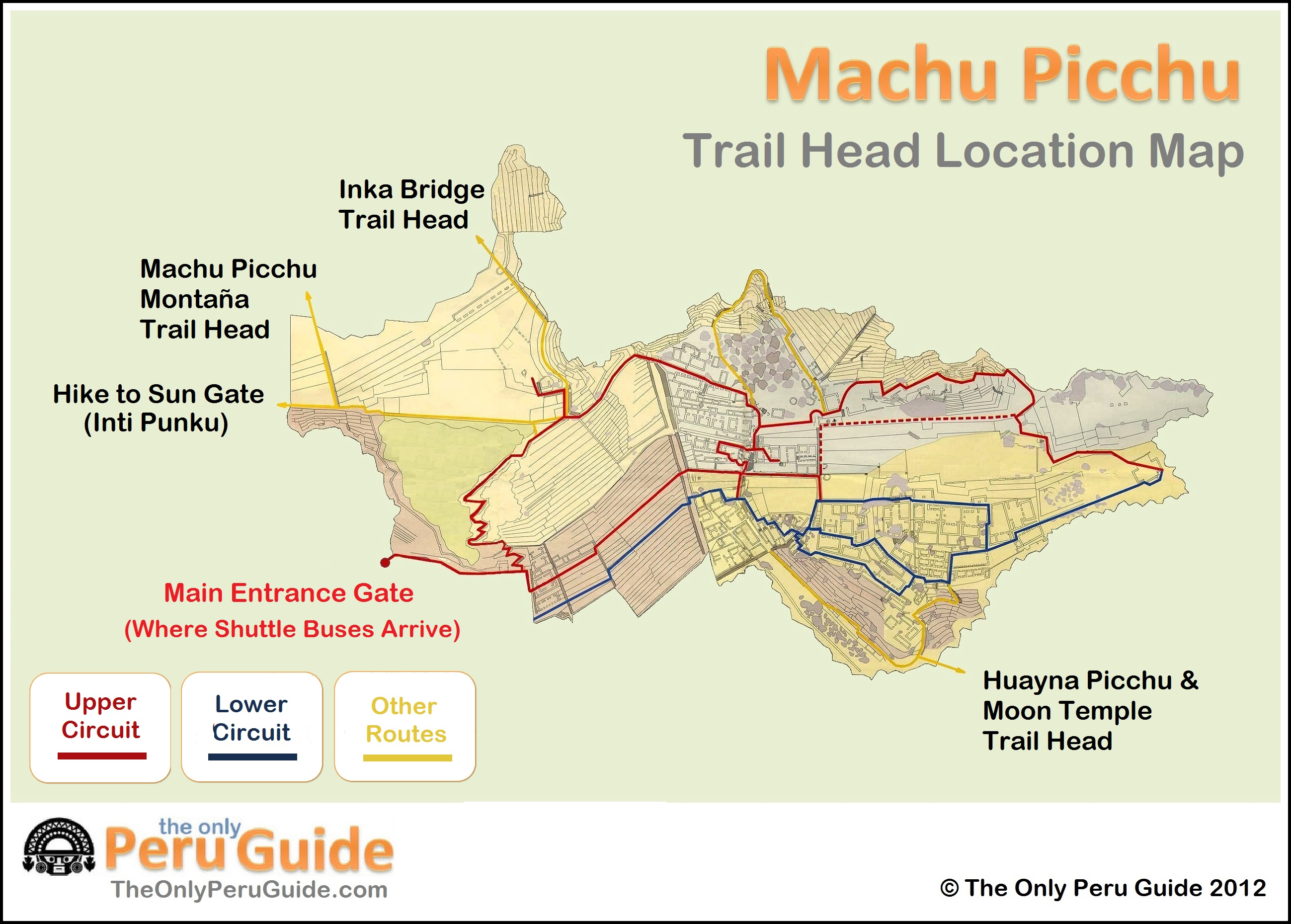 Trail head location map