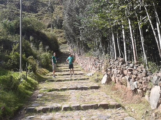 Walking Back Down from Pisac Ruins