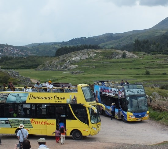 Sightseeing buses, Cusco