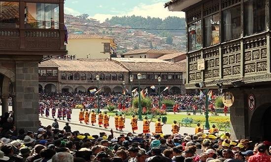 Inti Raymi at Plaza de Armas
