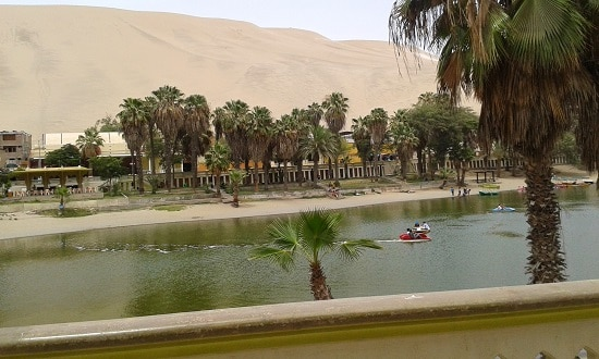 lagoon in Huacachina
