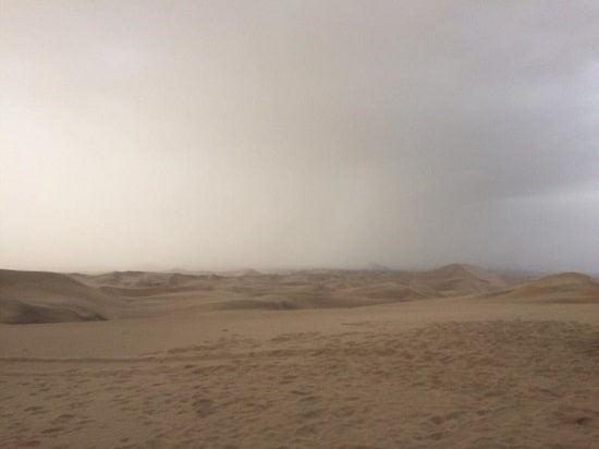 Sandstorm in the Paracas Region