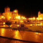 Cusco at Night, Plaza de Armas Cusco, Cusco Cathedral