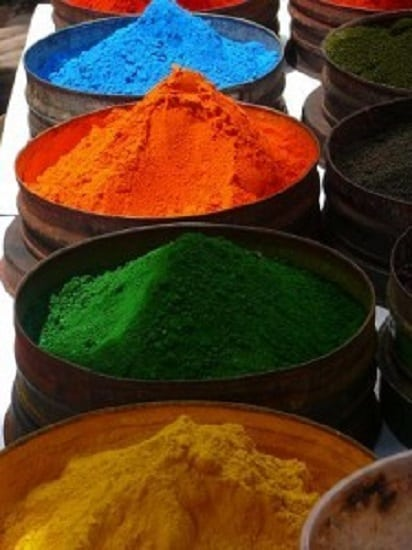 A selection of natural dyes for sale