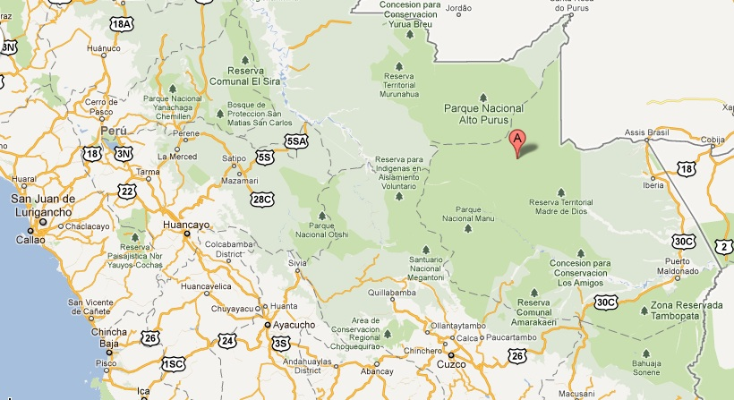 Google Map of Area - The Only Peru Guide