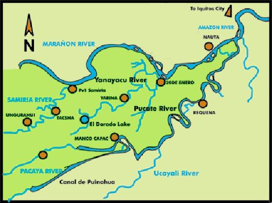 Loreto Peru Map Loreto   The Only Peru Guide