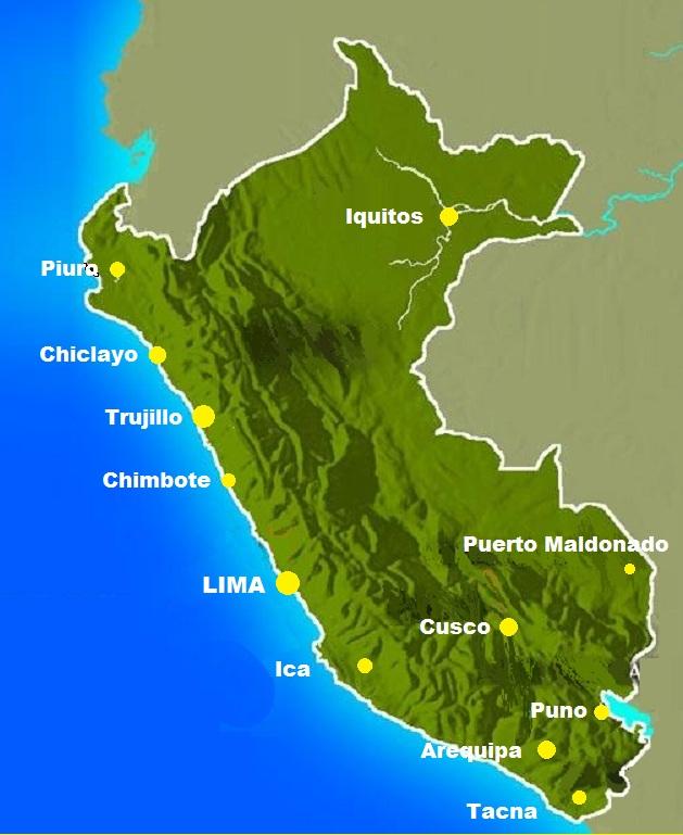 Peru City Map The Only Peru Guide