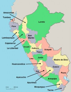 Peru-Map-Regions - The Only Peru Guide