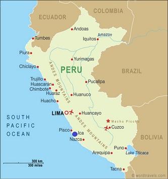 Peru Map Ica The Only Peru Guide