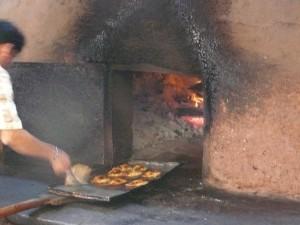 Cooking Empanadas, Community Oven, Pisac