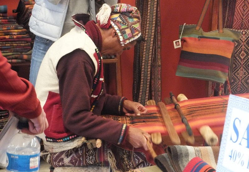 Traditional Andean weaving