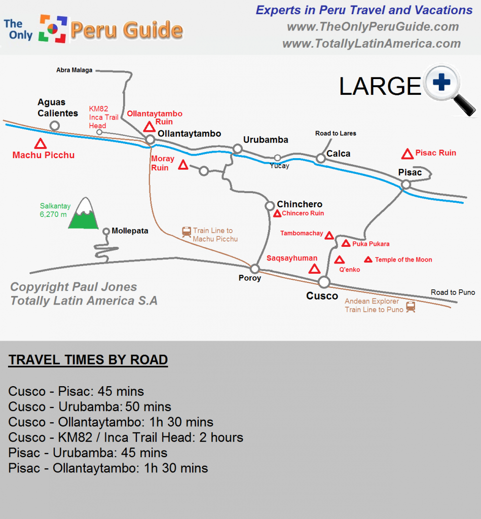 Sacred Valley Peru Map Map of the Sacred Valley Peru   The Only Peru Guide