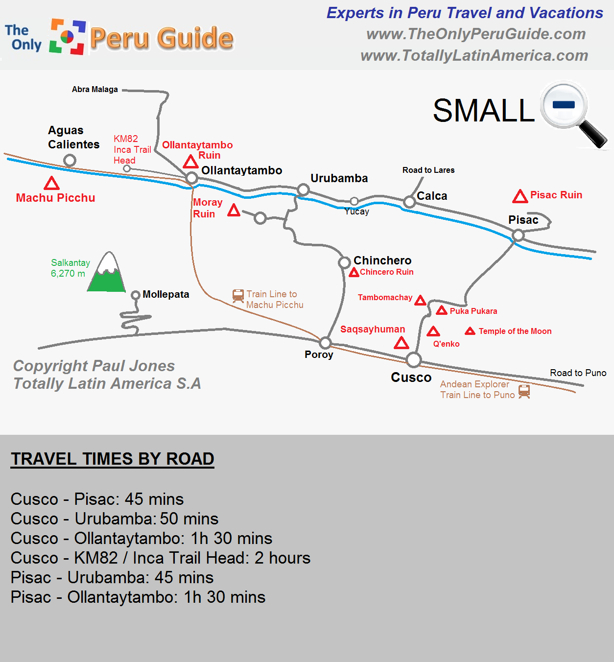 Sacred Valley Peru Map Map of the Sacred Valley (Large)   The Only Peru Guide