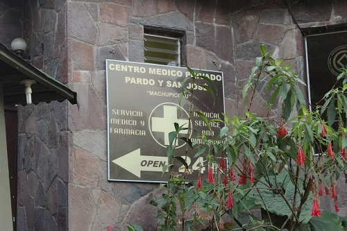 Sign for Pharmacy at Machu Picchu