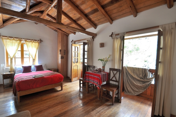 The Inti room at the Hotel Picaflor Tambo in Ollantaytambo in the Sacred Valley, Peru