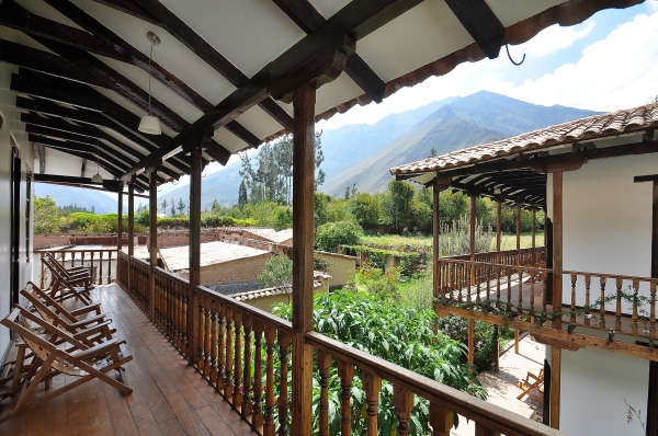 Great food and accommodation at El Albergue in Ollantaytambo in the Sacred Valley, Peru