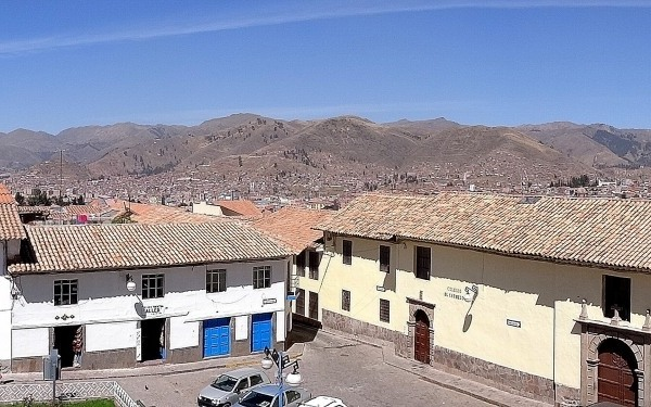 View from San Blas Church in Cusco, Peru