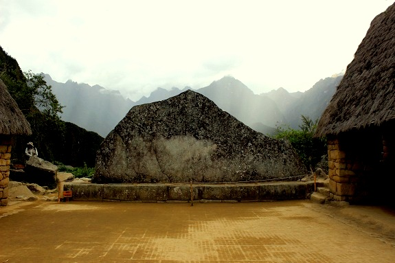 The Sacred Rock / Wank'a, with the line of Yanantin Mountain behind
