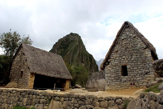 The Sacred Rock / Wank'a, with the famous Huayna Picchu Mountain behind