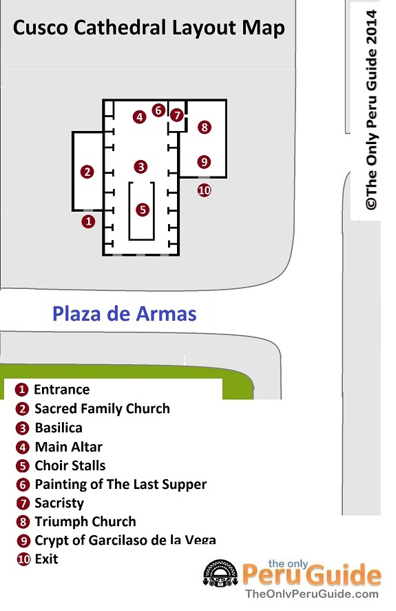 Layout map of Cusco Cathedral