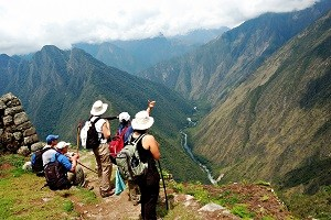Taking in the View on the Inca Trail