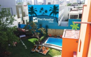 where to stay in lima - pool paradise lima, the only hostel in lima with a pool