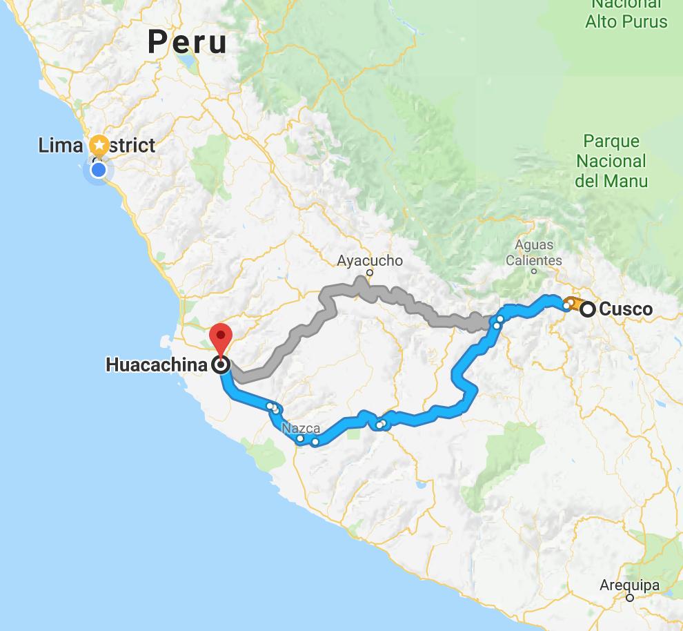 Huacachina Peru Map.Cusco Huacachina The Only Peru Guide