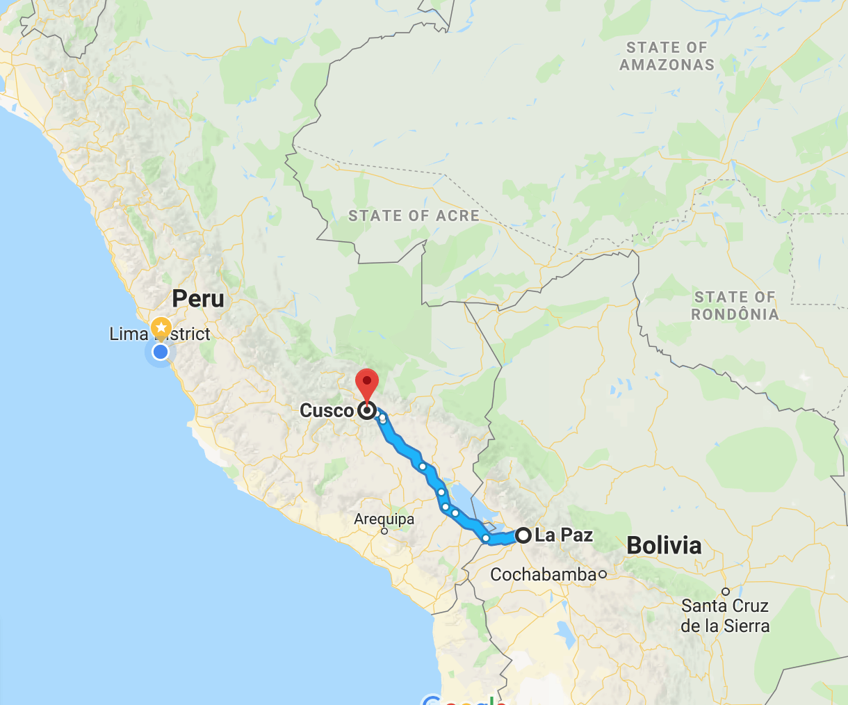 La Paz to Cusco by Bus Updated for 2019 ly Peru Guide
