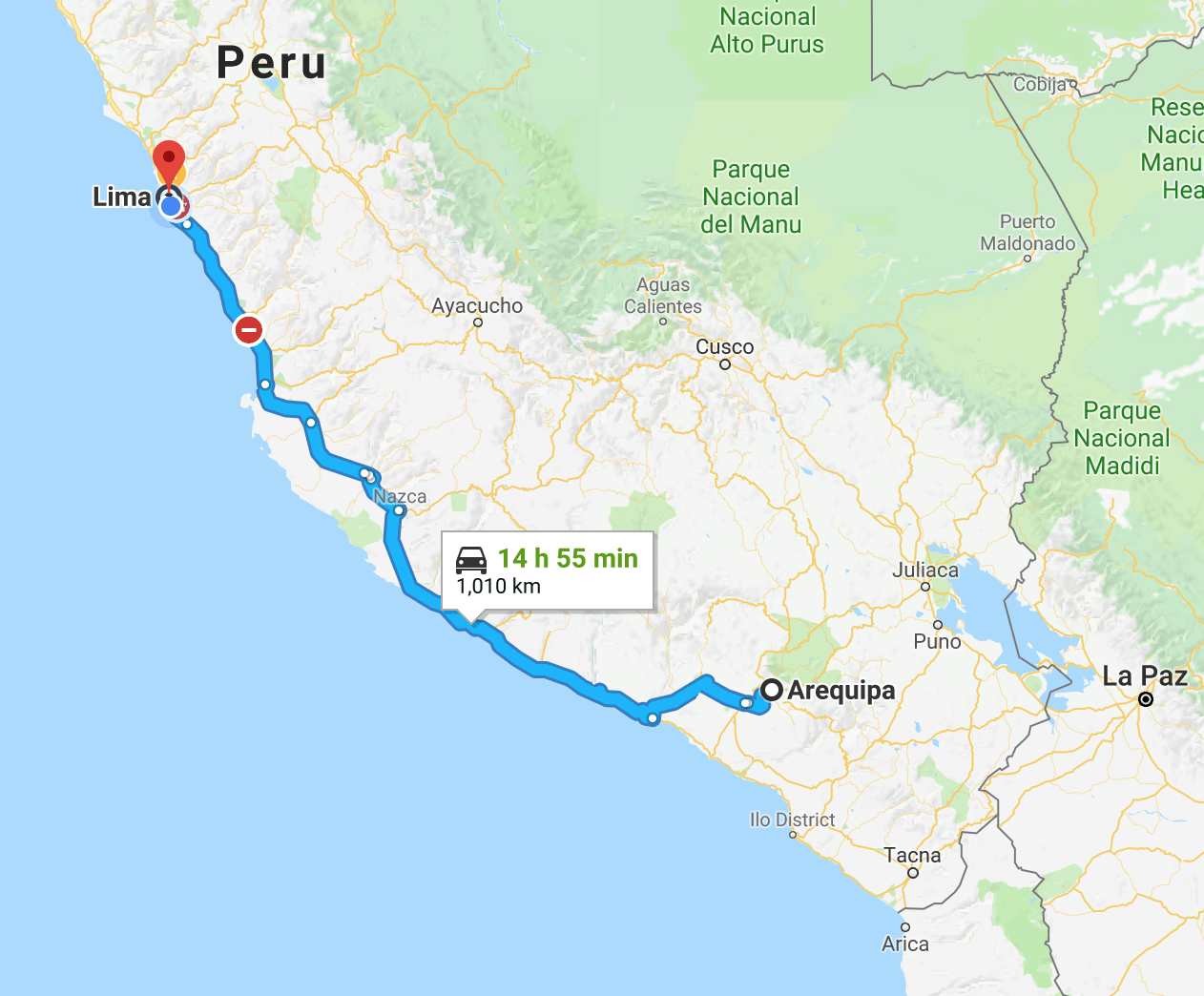 Lima To Arequipa By Bus Updated For Only Peru Guide - Where is lima