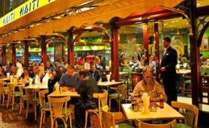 Restaurants In Miraflores - People sitting outdoors at Haiti café