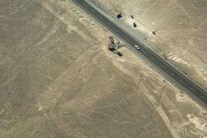 The Nazca Lines - Aerial view of nazca viewing tower