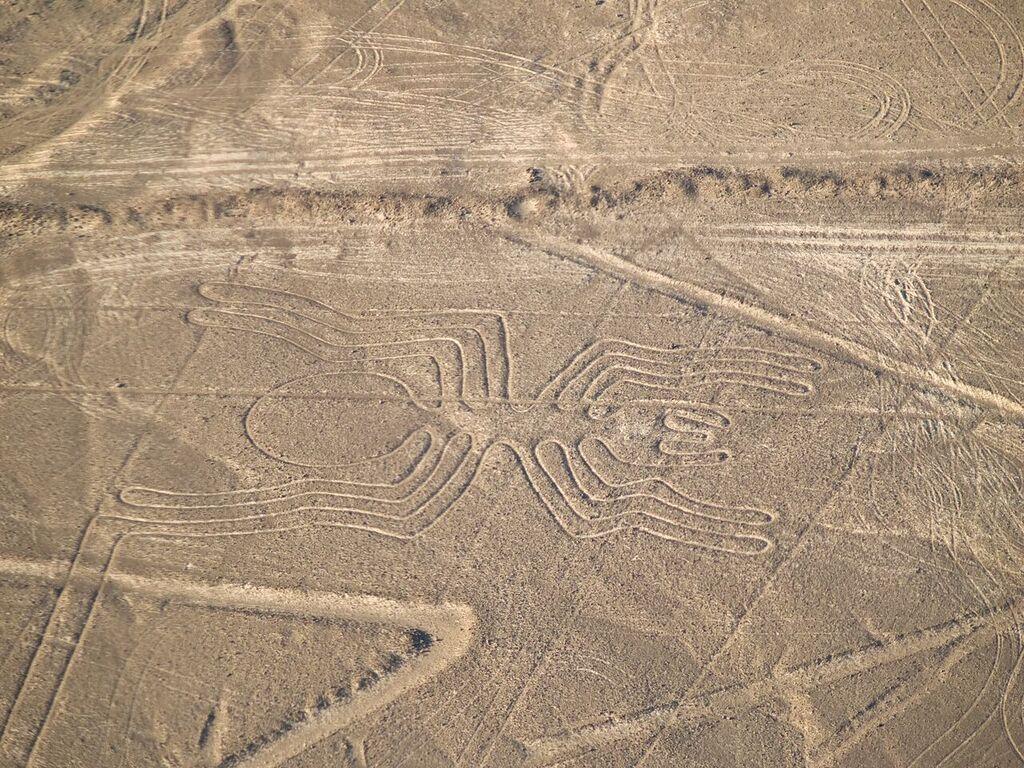 Spider geoglyph at Nazca Peru