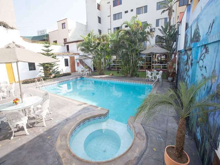 Nirvana hotel pool inside its property